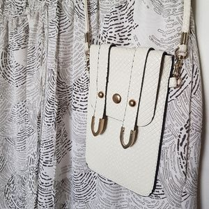 White Mini Crossbody Phone Bag